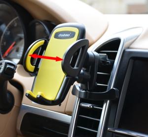 Mobilhållare för bilens fläktgaller